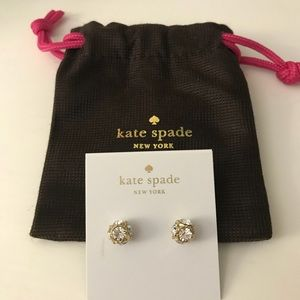 Kate Spade Lady Marmalade Clear/Gold Studs